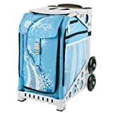 Zuca Sport Insert Bag Wonderland (Light Blue with Snowflakes) with White Sport Frame by ZUCA