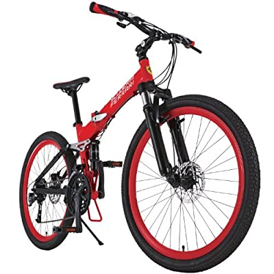 Ferrari RED Bicycle AL-FDB2627 W-sus 26 inches Disk Brake Shimano 27 Speed