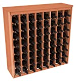 64 Bottle Deluxe Wine Rack in Redwood