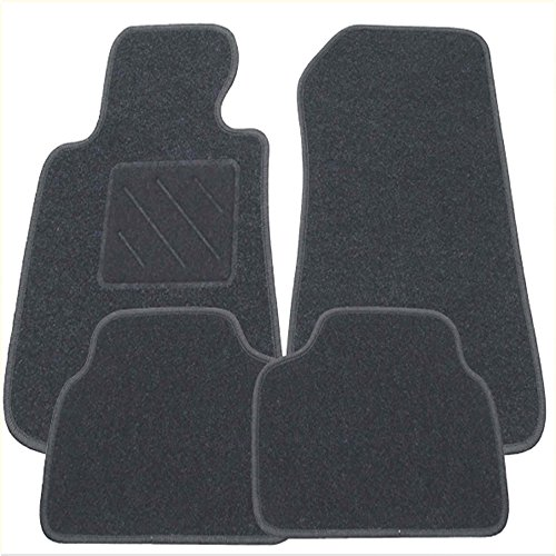 Fußmatten graphit mit Absatzschutz für Mercedes W212 Limousine 4 türig 01.03.2009- E-Klasse W211 Halter nur FM