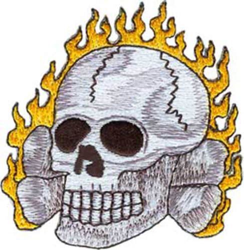 Application Flaming Skull Patch
