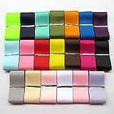 Chenkou Craft Assorted Of 20 Yards Grosgrain Ribbon Total 20 Colors Mix Lots Bulk (1 1/2