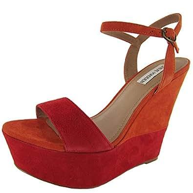 Steve Madden Women's Wimzikul Wedge Sandal,Blush Multi,9.5 M US