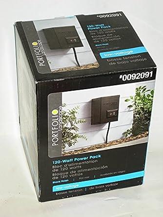 portfolio outdoor 120w magnetic transformer 0092091 flood lighting. Black Bedroom Furniture Sets. Home Design Ideas