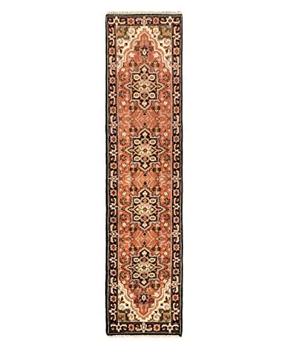 Hand-Knotted Royal Heriz Wool Rug, Dark Copper, 2' 6 x 10' 2 Runner