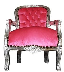 chaise baroque rose argent fauteuil cuisine maison. Black Bedroom Furniture Sets. Home Design Ideas