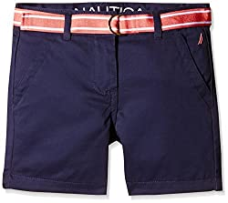 Nautica Kids Girls' Shorts (NCE0006Q417_Navy_6 - 7 years)