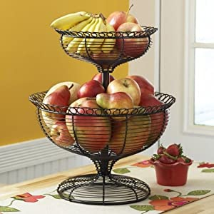 Amazon.com - Mesa Home Products French Loop 2-Tier Basket - Home