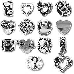 Timeline Trinketts Beads and Charms for Pandora Bracelets - Hearts