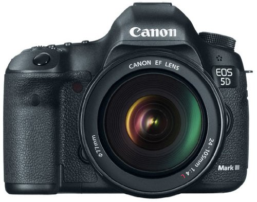 New Canon EOS 5D Mark III 22.3 MP Full Frame CMOS with 1080p Full-HD Video Mode Digital SLR Camera (...