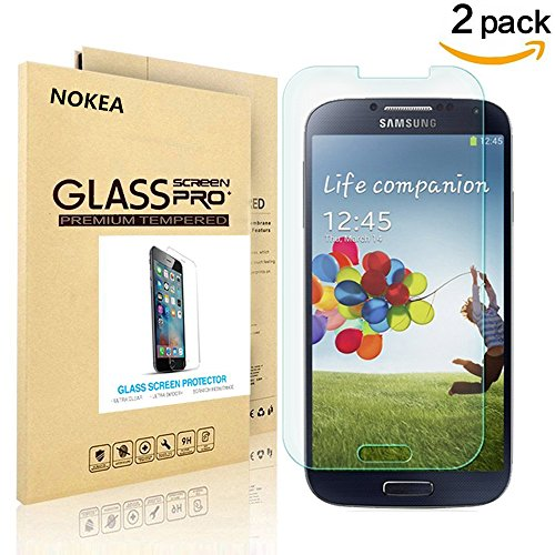 [2 PACK] Samsung Galaxy S4 Screen Protector, NOKEA [9H Hardness] [Crystal Clear] [Easy Bubble-Free Installation] [Scratch Resist] Tempered Glass Screen Protector for Galaxy S4 (for S4) (Galaxy 4s Cover compare prices)