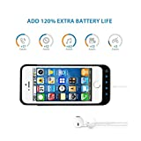 Noza Tec 4200Mah External Detachable Power Bank Charger Pack Backup Battery Case for iPhone 5 5S 5C (Black)