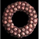 Exotic Creations Morning Rose - Dried flower wreath(Metallic,L=40 cm X W=40 cm X D= 40 cm)