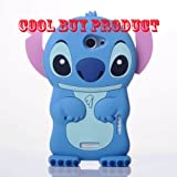 Cool Buys Authentic Lilo and Stitch 3D Soft Case Cover for HTC One X 4G, Blue