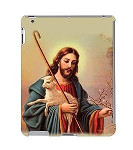 Fuson 3D Printed Lord Jesus Designer Back Case Cover for Apple iPad 3 - D531