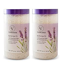 2 Pack Dead Sea Salt With Lavender Essential Oil Epsom Bath Salt With Dead Sea Salt Minerals