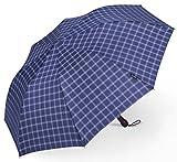 折り畳み傘 PLEMO自動開け折りたたみ傘 クラシック・ブルー (直径100センチ)