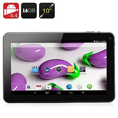 Tablette 10.1 pouces Quad Core - CPU A33 / 1Go de RAM / 16Go de mémoire / Android 4.4 / Port Micro SD / 5000mAh / Noir*