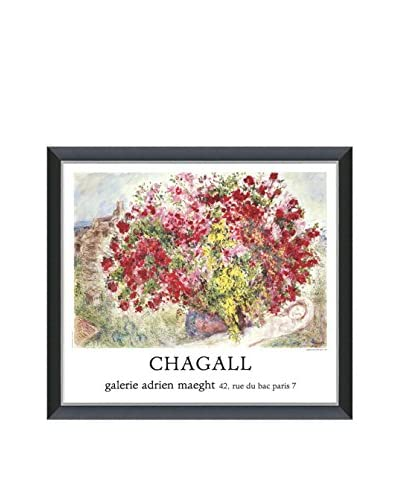 Art Source Marc Chagall Jardins De St Paul 1973, Multi, 22.25 x 25.25