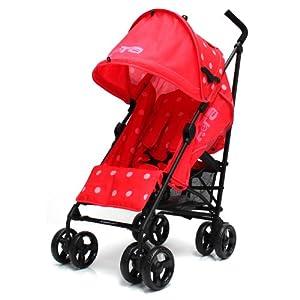 Zeta Vooom Stroller with Warm Red Dots by Zeta