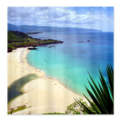 CafePress Waimea Bay Hawaii Tropical Shower Curtain