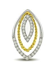Surat Diamond 18K Yellow Gold Diamond Pendant - B00NGU2O6Y