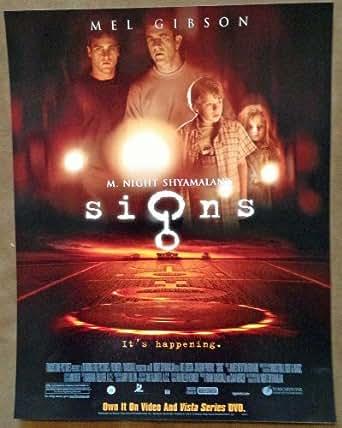 signs 11quotx14quot original promo movie poster mint mel