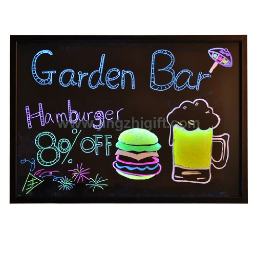 "24""X16"" High Transparent Acrylic Neon Led Writing Board Menu Sign"