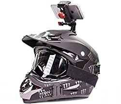 iPhone 4, 5, 6 Helmet Mount Cam holder for HD phone videos, compatible with all cases and phones, use with Samsung Galaxy 3, 4, 5, HTC Nokia Otterbox cases