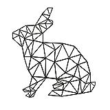 Aooyaoo ウサギのウォールステッカー 2016北欧デザイン42*45cm (ブラック)