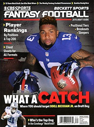 Current CBS Sports Fall 2015 Beckett Fantasy Football Draft Guide Magazine Odell Beckham Jr Cover 071486020172
