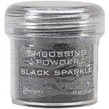 Ranger Embossing Powder, 1-Ounce Jar, Black Sparkle