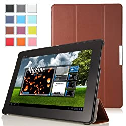 MoKo Ultra Slim Lightweight Smart-shell Stand Case for ASUS MeMo Pad Smart ME301 / ME301T 10.1 inch Android 4.1 Jelly Bean tablet COFFEE