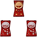 Gold Plated GL Pooja Thali Set And Silver Plated Royal Pooja Thali Set With Ganesh Laksmi 2 Set