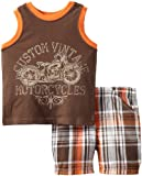 Little Rebels Baby-Boys Infant 2 Piece Custom Vintage Motorcycles Short Set