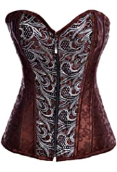 Alivila.Y Fashion Sexy Punk Front Zip Up Steel Boned Corset