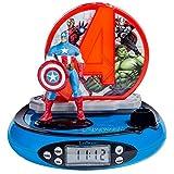 Avengers - Radio despertador con proyector, color azul (Lexibook RP500AV)