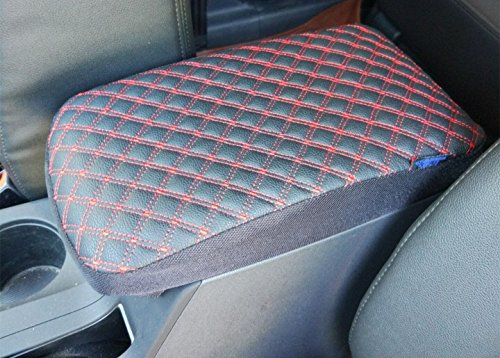 Dodge Ram Pickup Truck 1998-2013 Leather Car Auto Center Armrest Console Box Lid Cover Protector (02 Dodge Ram Center Console Cover compare prices)