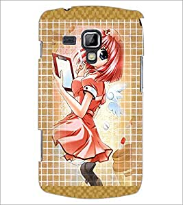Printdhaba Writing Girl D-3042 Back Case Cover For Samsung Galaxy S Duos S7562