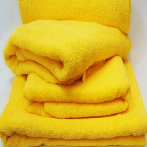 Royal Resort Collection - Super Soft Set of 2 Luxury Pool/Beach Towels, Duck Yellow
