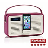 View Quest Retro Style ColourGen DAB/DAB+ FM Radio Speaker with Lightning Charging Dock Station for iPhone - Deep Purple
