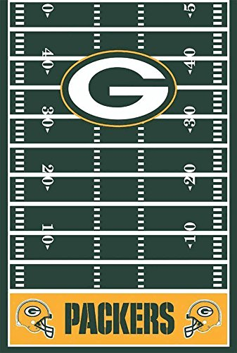 DesignWare Bay Packers Plastic Table Cover, 54 by 102""