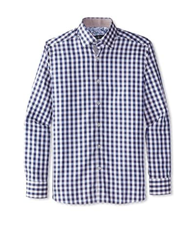 Stone Rose Men's Gingham Button-Up