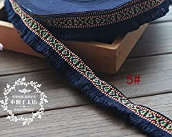 New 5 Yard/Lot Tassel Fringe cotton lace Trim Ribbon Sewing Latin Dress Stage Garment Curtain DIY Accessories 3CM Wide. 5