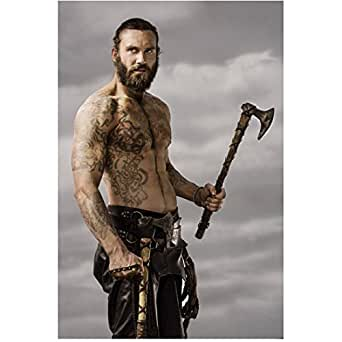Vikings Clive Standen as Rollo Shirtless HOT Showing Tattoos Holding