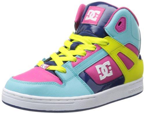 AC Girls Rebound Hi Top Scarpe, UK: 3Gioventù Regno Unito, estate blu/limone