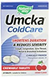 Natures Way Umcka ColdCare Chewable, Cherry, 20 Count