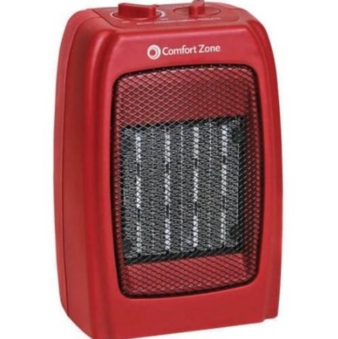 Red Ceramic Heater Powerful and Compact Portable Device with Fan 1500W 130 sq ft (Ac Heater Combo Window Unit compare prices)
