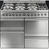 Smeg SY4110-8 Symphony 110cm Dual Fuel Range Cooker Stainless Steel