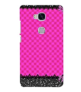 Pink Color Pattern 3D Hard Polycarbonate Designer Back Case Cover for Huawei Honor 5X :: Huawei Honor X5 :: Huawei GR5